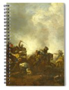 Cavalry Attacking Infantry Spiral Notebook