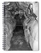 Cave Entrance Black And White Spiral Notebook