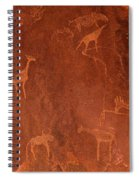 Cave Paintings By Bushmen, Damaraland Spiral Notebook