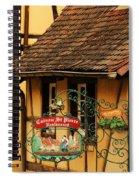 Caveau St Pierre Sign In Colmar France Spiral Notebook