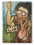 Caveman And Fire Spiral Notebook