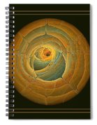 Cavern Framed Green And Gold Spiral Notebook