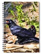 Caw And Friend Spiral Notebook