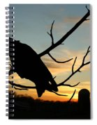 Cawcaw Over Sunset Silhouette Art Spiral Notebook