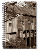 Cedar Creek Grist Mill Sepia Spiral Notebook