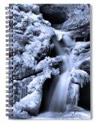 Cedar Falls In Winter Spiral Notebook