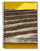 Cedar Plank On Yellow Spiral Notebook