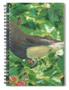 Cedar Waxwing Eating Mulberry Spiral Notebook