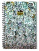 Ceiling Of Dollar Bills  Spiral Notebook