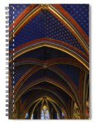 Ceiling Of The Sainte-chapelle  Paris Spiral Notebook