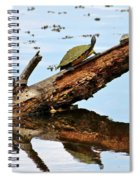 Happy Family Of Turtles Spiral Notebook