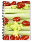 Celery And Tomatoes Spiral Notebook
