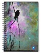 Celestial Dream Of Crow Spiral Notebook