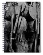 Cellos 6 Black And White Spiral Notebook