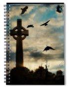 Celtic Blue Spiral Notebook