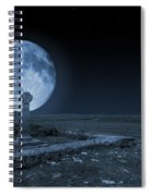Celtic Cross And Moon Spiral Notebook