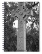 Celtic Cross In Black And White Spiral Notebook