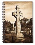 Celtic Cross In Sepia 1 Spiral Notebook
