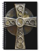Celtic Cross Sepia Spiral Notebook