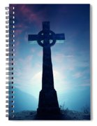 Celtic Cross With Moon Spiral Notebook