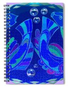 Celtic Fish On Blue And Lavender Spiral Notebook
