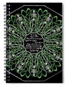 Celtic Flower Of Death Spiral Notebook