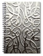 Celtic Glass Spiral Notebook