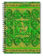 Celtic Irish Clover Home Blessing Spiral Notebook