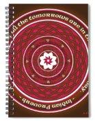 Celtic Lotus Mandala In Pink And Brown Spiral Notebook