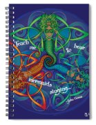 Celtic Mermaid Mandala Spiral Notebook