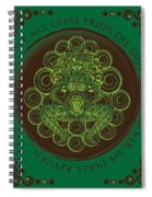 Celtic Pagan Fertility Goddess Spiral Notebook