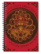Celtic Pagan Fertility Goddess In Red Spiral Notebook