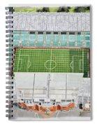 Celtic Park Stadia Art - Celtic Fc Spiral Notebook