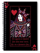 Celtic Queen Of Hearts Part I Spiral Notebook