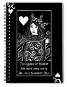 Celtic Queen Of Hearts Part I In Black And White Spiral Notebook