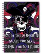 Celtic Spiral Pirate In Blues And Reds Spiral Notebook