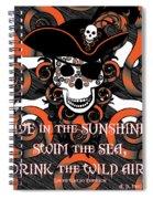 Celtic Spiral Pirate In Orange And Black Spiral Notebook