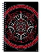 Celtic Vampire Bat Mandala Spiral Notebook
