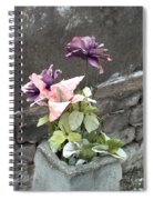 Cemetary Flowers 2 Spiral Notebook