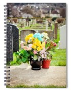 Cemetery Flowers Spiral Notebook