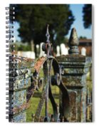Cemetery Gate With Peeling Paint Spiral Notebook