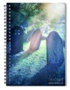 Cemetery Light Spiral Notebook