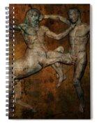 Centaur Vs Lapith Warrior Spiral Notebook