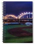 Centennial Bridge And Modern Woodmen Park Spiral Notebook
