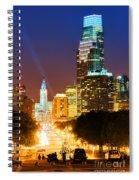 Center City Philadelphia Night Spiral Notebook