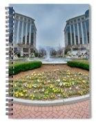 Center Fountain Piece In Piedmont Plaza Charlotte Nc Spiral Notebook