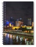 Central Melbourne Skyline At Night Australia Spiral Notebook