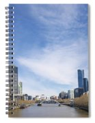 Central Melbourne Skyline By Day Australia Spiral Notebook