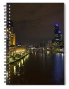 Central Melbourne Skyline In Australia Spiral Notebook