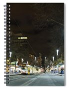 Central Melbourne Street At Night In Australia Spiral Notebook